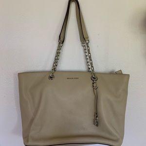 Michael Kors Mercer Chain-Link Leather Tote Bag